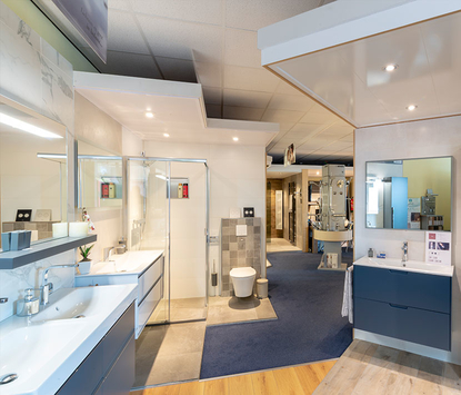 Bliek Sanitair showroom badkameropstellingen