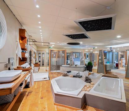 Hamer Badkamers showroom badkameropstellingen