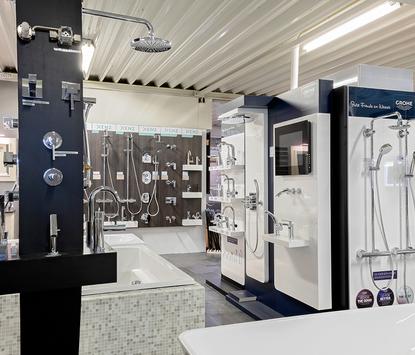 Tegels & Sanitair Hoogeveen showroom wastafels douchesets