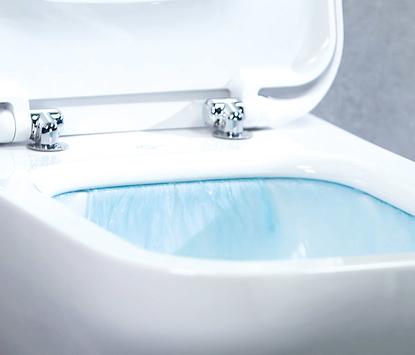 Natuurlijke badkamer - toilet met slimme spoeltechniek