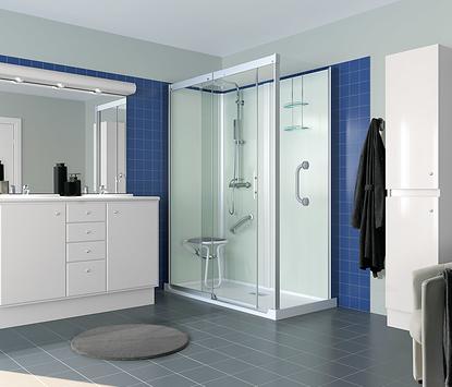 Comfort badkamer - douchecabine met lage instap
