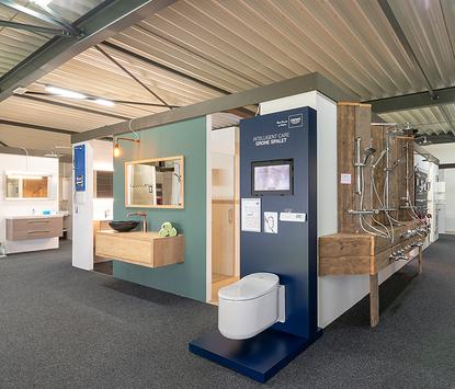 Verwarming & Sanitair Shop showroom badkameropstellingen