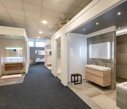 Aangenaam Badkamers showroom badkameropstellingen