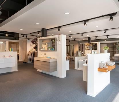Gitsels Badkamers showroom badkameropstellingen