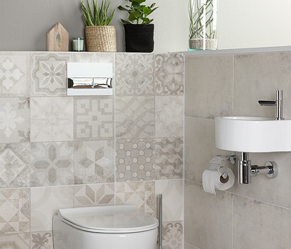 Mix & Match patchwork mozaiek tegels toilet