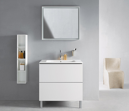 Duravit badkamermeubel Cape Cod wit wastafelmeubel met spiegel
