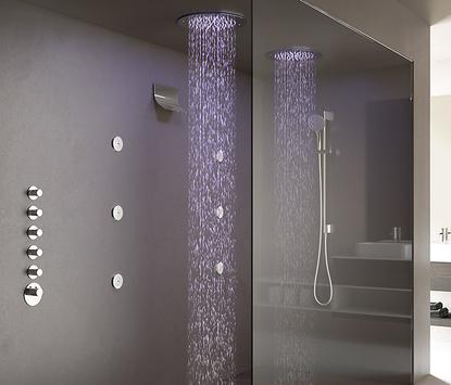 Hotbath Mate doucheset - met waterval overloop en inbouw regendouche