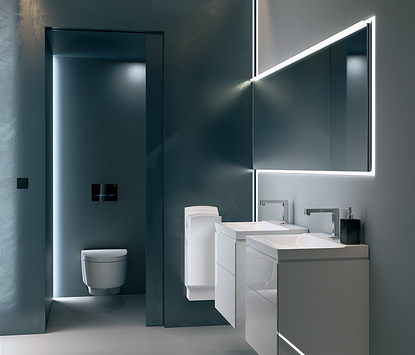Geberit AquaClean Mera douchewc toilet in badkamer