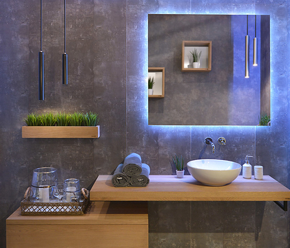 Looox - Wood Collection - badkamermeubel opstelling baseblock - hout - spiegel