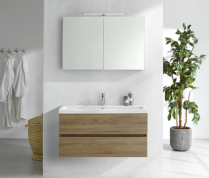 Primabad - Get Up - badkamermeubel hout - spiegelkast