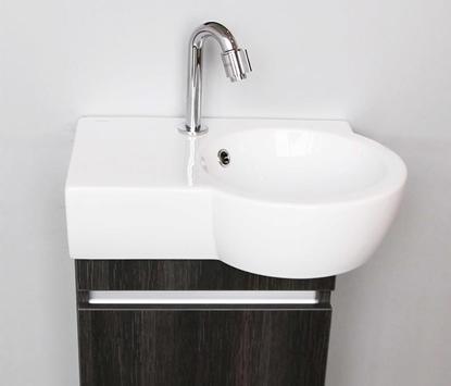 Thebalux - Aico - toiletmeubel - wasbak met onderkast - dark wood