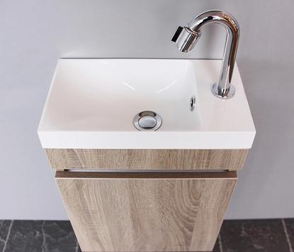 Thebalux - Happy - toiletmeubel - wasbak met onderkast - eiken