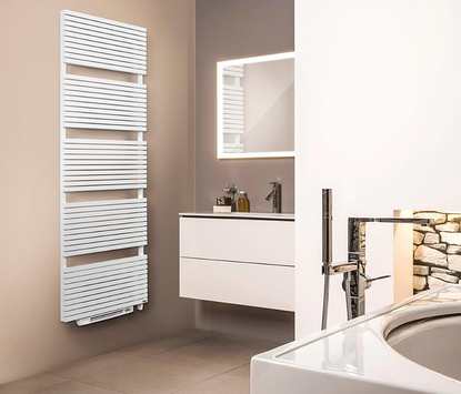 Vasco - Carre met Blower - radiator - wit