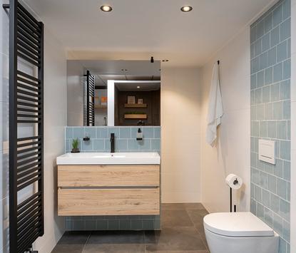 Van Veen Tegels & Sanitair showroom badkameropstelling