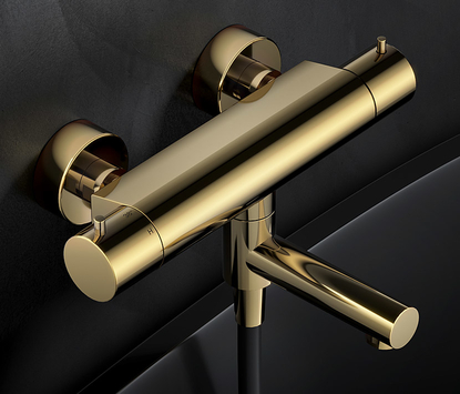 Hotbath Cobber opbouw badkraan, goud