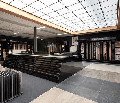 Van der Meulen Badkamers showroom tegelafdeling