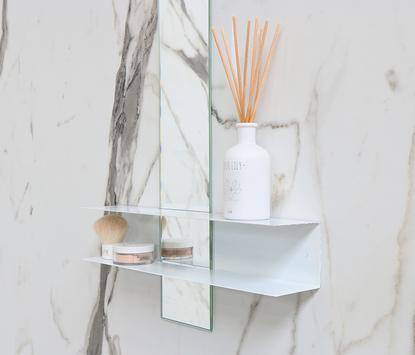 Ink - Fontein - spiegel met planchet glans wit - Linea