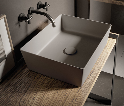 Mix & Match badkamermeubel modern met opzetkom en led spiegelpaneel