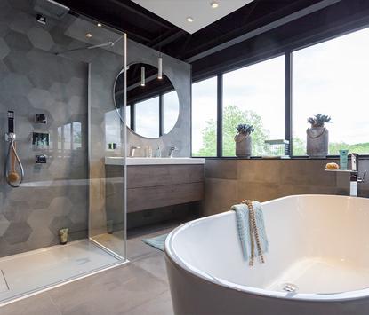 St Pieter Eindhoven Badkameropstelling vrijstaand bad