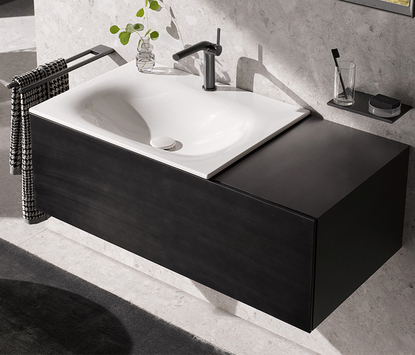 Modern badkamermeubel in mat zwart