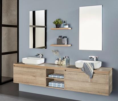 Luxe badkamermeubel met dubbele wasbak