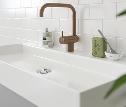 Primabad - Get Up - badkamermeubel hout met chromen handgrepen