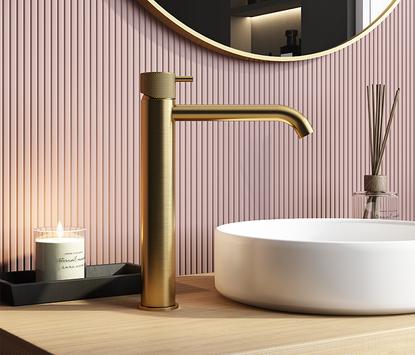 Hotbath Cobber opbouw wastafelkraan, goud