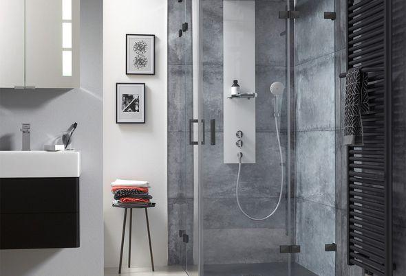 Inspiratie: 4x zwart in de badkamer - 2. Comfortabel douchen