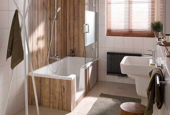 HSK Dobla: ligbad en douche in één - 2. HSK Badwand in diverse uitvoeringen
