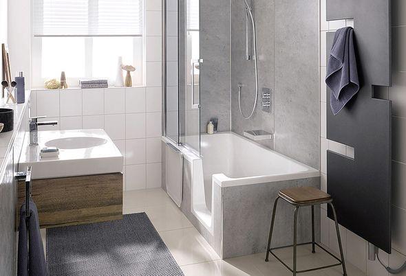 Inloopdouche Met Badkamerspecialist : Een ligbad en een veilige douche met het hsk dobla douchebad u2013 baden