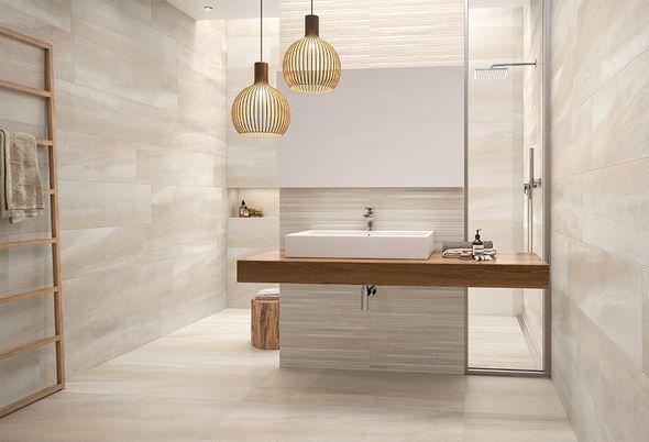 Zo maakt u van uw badkamer een thuisspa - 1. De natuur aan de muur