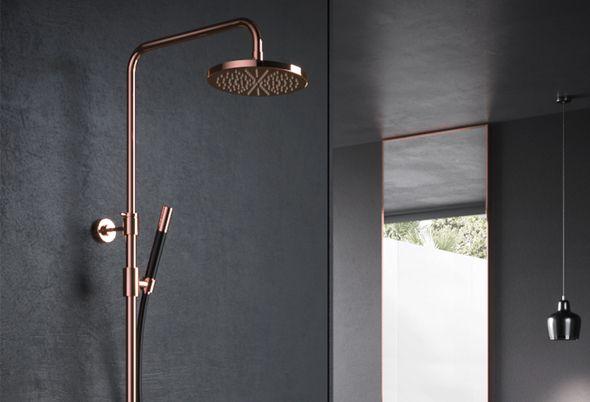 Plafond badkamer maken luxe inloopdouche met led verlichting in