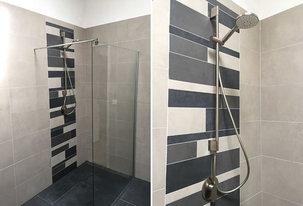 Stroken Tegels Badkamer : Moderne badkamer in gouda badkamerstudio roggeveen
