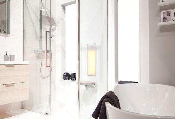 Spa-ritueel in de badkamer - stomen en douchen