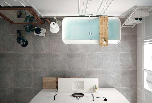 Installatie - 2. Veen De trend in grote tegels/Badkamer verbouwen
