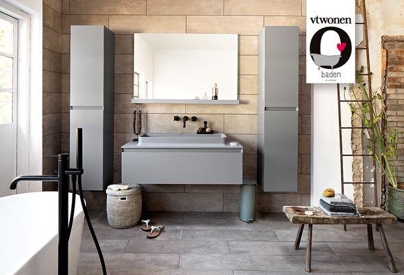 vtwonen - 2. Eindhoven Mooie grijs en wittinten in je badkamer