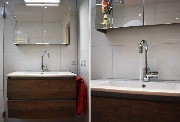 Ruimtelijke badkamer in Mijdrecht - luxe en duurzaam douchen en opbergen