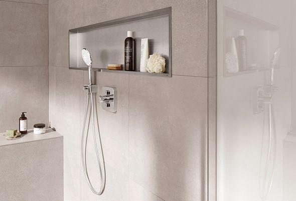 Douchecabine voor een kleine badkamer - Kies voor een inbouw douchekraan en nis
