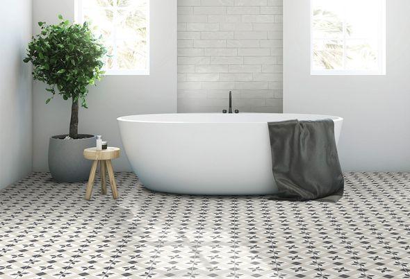 Hoe kies ik badkamertegels? - 3. Decor- of gekleurde tegels voor extra sfeer