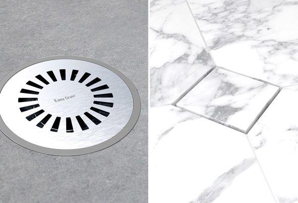 Easy Drain doucheput - Vloeren: vinyl natuursteen en vierkant