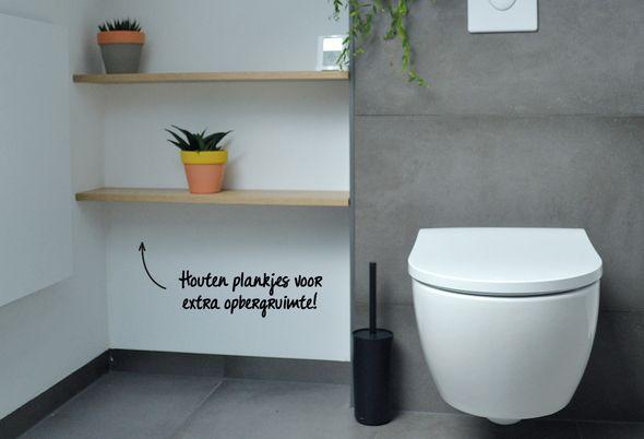 Industriële badkamer in Halsteren - Inloopdouche en half vrijstaand bad