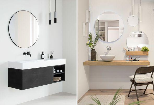 spiegel in de badkamer - 2.