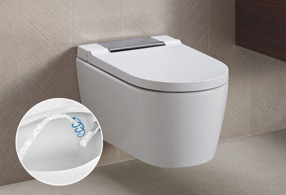 Veilige comfort badkamer slim inrichten - Douchewc en douchebad