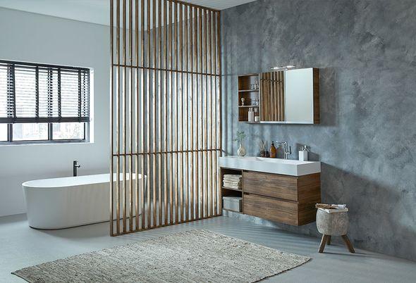 Grote badkamer indelen - Doorbreek de badkamer en leefruimte