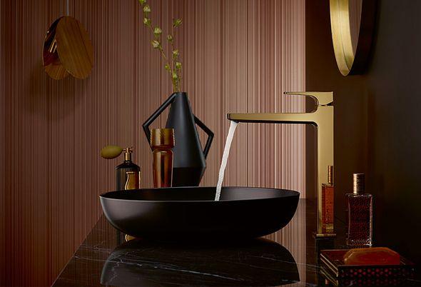 Kleur in de badkamer - luxe kleuren en pasteltinten
