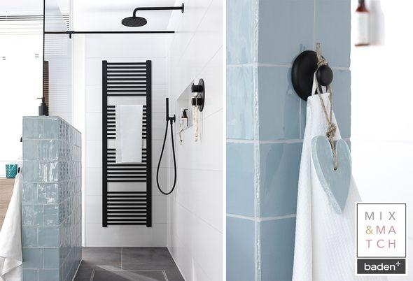 Zwart en staal in de badkamer: trend van het moment! - zwarte trend en mix en match