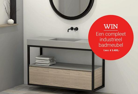 Zwart en staal in de badkamer: trend van het moment! - wat kun je winnen en zo maak je kans
