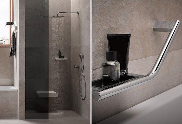 Veilig in bad - Eenvoudiger opstaan met een badzitje en handgrepen
