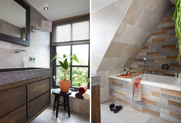 Binnenkijken bij een landelijke badkamer - afbeeldingen