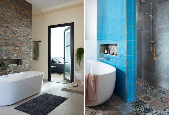 Binnenkijken bij twee badkamers, twee stijlen - Alinea 2